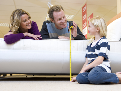 Where do most people buy their new mattress from?