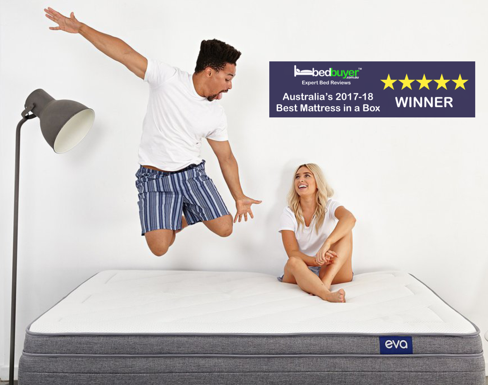 the eva mattress awarded australia 39 s 39 best mattress in a box 39. Black Bedroom Furniture Sets. Home Design Ideas